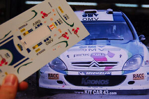 DECAL-CALCA-1-18-CITROEN-XSARA-WRC-034-OMV-034-M-STOHL-RALLY-ARGENTINA-2005