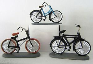 Miniatur Fahrrad L 6 5cm Blau Braun Schwarz Geldgeschenk Basteln