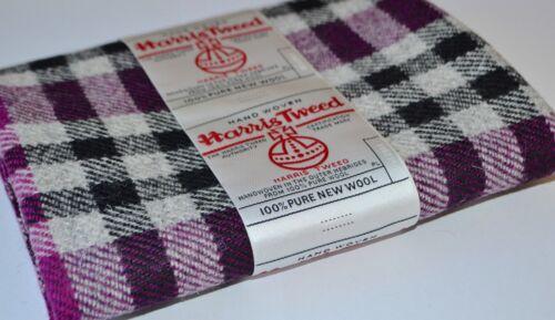 HARRIS TWEED FABRIC LABELS 100/% wool tartan herringbone craft patchwork sewing b