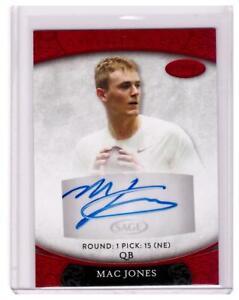 2021 SAGE Aspire Mac Jones Rookie Auto Autograph RED Patriots Card SP !!!