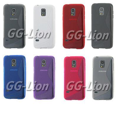TPU Gel Rubber Silicone Skin Case Cover for Samsung Galaxy S5 mini, SM-G800F