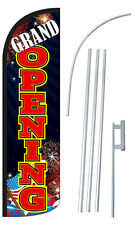 Grand Opening Flag Kit 3 Wide Windless Swooper Feather Advertising Sign