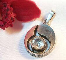Sten & Laine Anhänger mit Bergkristall 925 Silber Finnland old Pendant / ab 669