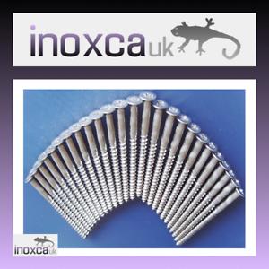 "6.0x90mm Acciaio inox Viti per legno strutturale CSK a testa fresata PZ No.14 x 3.5/"""
