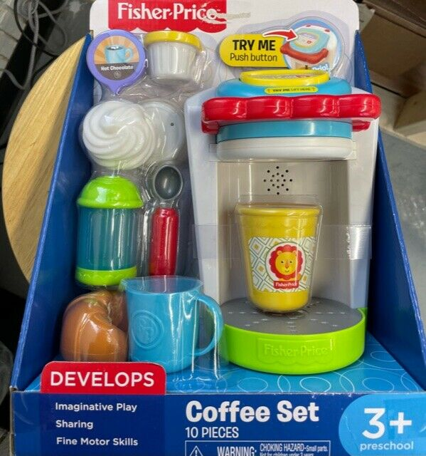 Fisher Price Coffee Set Imaginative Play Coffee Pod Sugar Creamer Fun Food For Sale Online