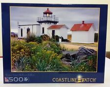 Sure-Lox Coastline Watch Point No Point Lighthouse 500 Pc Puzzle ~ New & Sealed