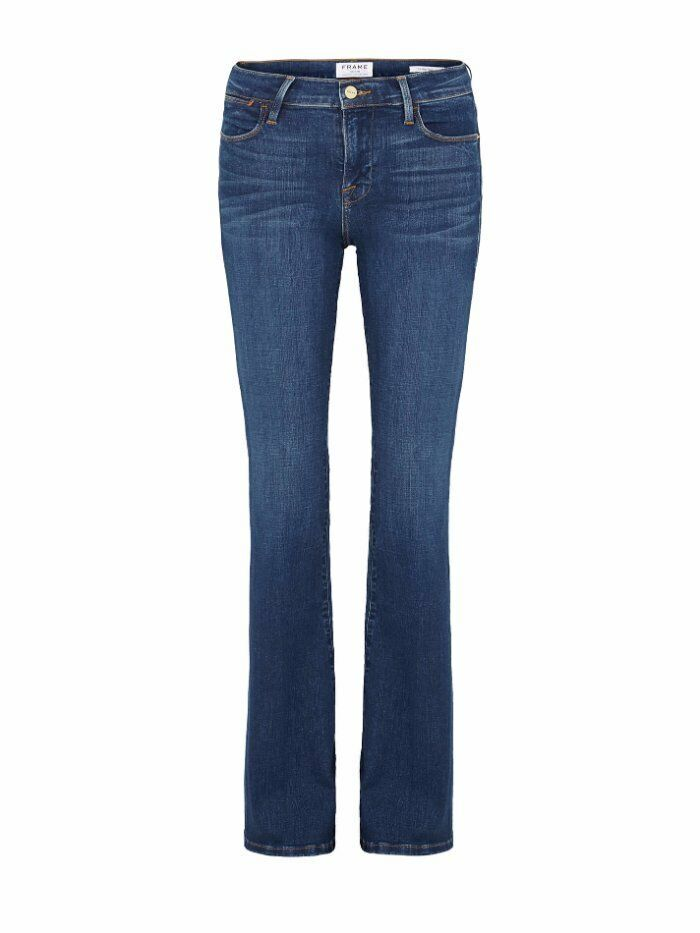 229 Frame Denim Le High Flare Leg in Alla Medium Wash Stretch Jeans 25 NEW F429