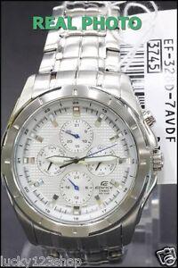 3927488deb97 EF-328D-7A White Genuine New Casio Watch Edifice Month Date Day 24 ...