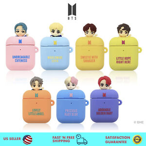 BTS Figure Airpods Case with Silicone Rubber for Apple Airpods 1 and 2