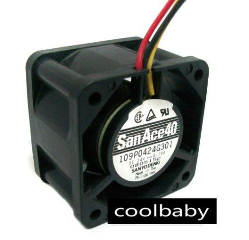 Sanyo 109P0424G301 fan 40*40*28mm 3pin  24V 0.19A