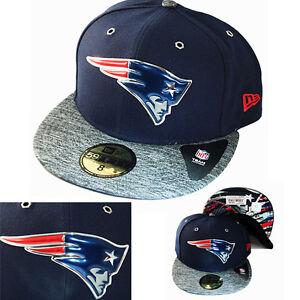New-Era-NFL-New-England-Patriots-5950-Fitted-Hat-Blue-Grey-2Tone-Color-Draft-Cap