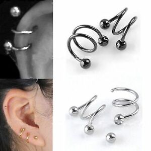 Image Is Loading Funky Earrings Spiral S Cute Emo Punk Retro