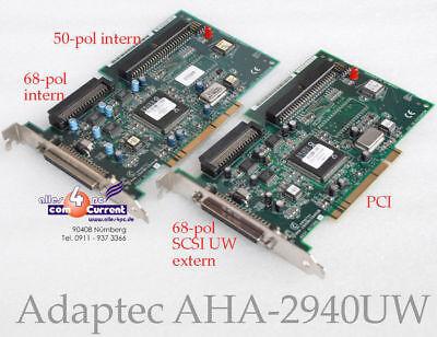 Fiducioso Scsi Uw Ultra Wide Controller Adaptec Aha-2940uw Pci 68-pol + 50-pol 2940uw #3