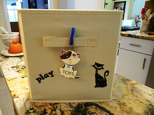 Your Kitty Toy Box Has Arrived, Hand-Stenciled, You Choose Color