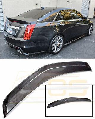 Fits 16-19 Cadillac ATS V Sedan V Style Trunk Spoiler Carbon Fiber CF