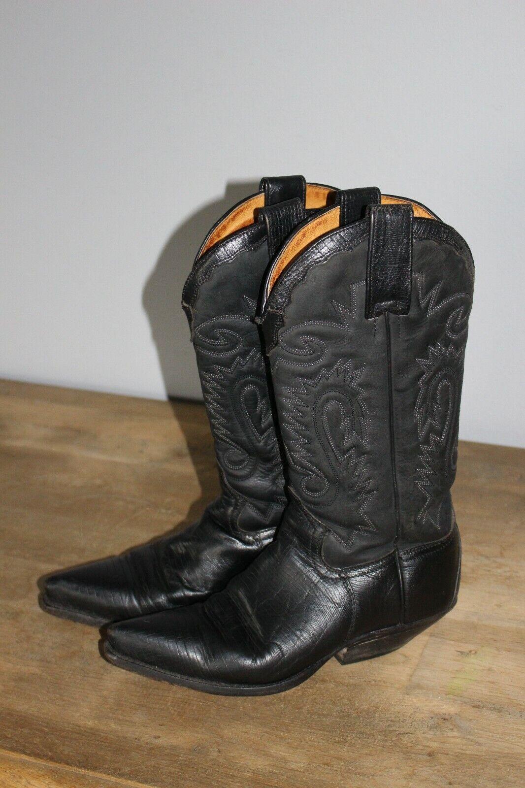 Stiefel 2,5 SENDRA cm 30 Schaft cm Absatz schwarz Leder 38