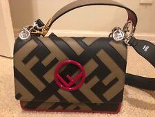 01ae5ac805cb Fendi Kan I F Small Leather Shoulder Bag Black for sale online