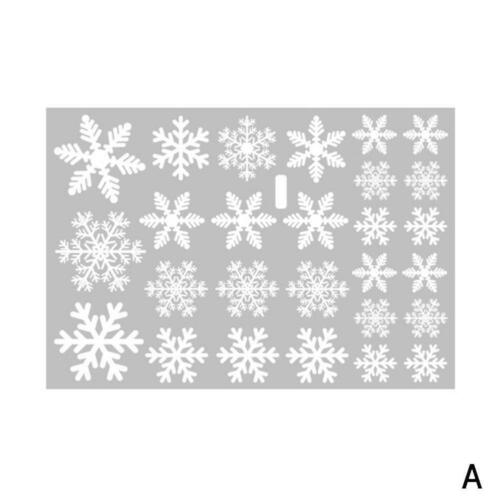 Snowflake Christmas Electrostatic Window Stickers Xmas Decor Wall Poster White