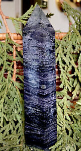 148-2g-RARE-NATURAL-RAW-PURPLE-CHAROITE-CRYSTAL-HEALING-WAND-Reiki-RUSSIA