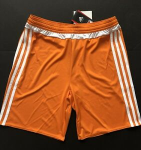 734dc87b8 Adidas Match MLS 15 Soccer Football Athletic Gym Shorts Orange Youth ...
