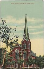 Ohio Postcard c1910 LIMA Old Trinity Church Building Allen County