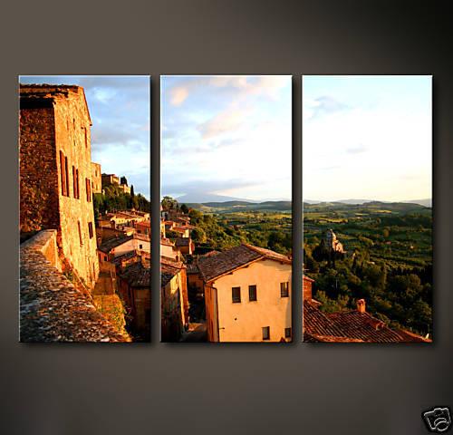 Toscana Toile Image Italie Abstrait pression Toscane  Modern la fresque NEUF