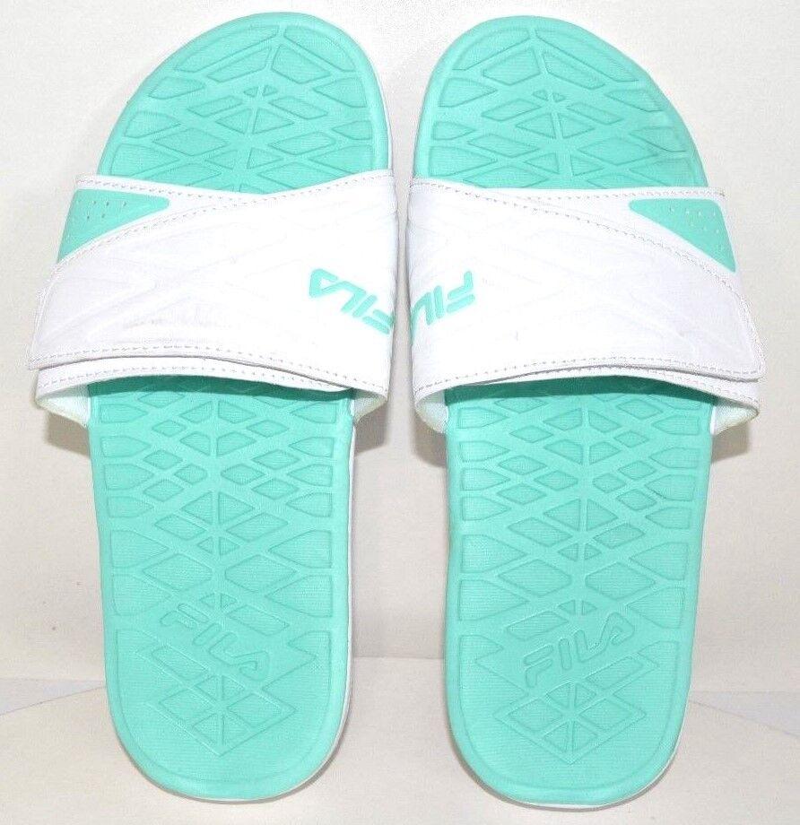 Fila Women Green Slide White / Mint Green Women US Size 7 - FREE SHIPPING - BRAND NEW 880435