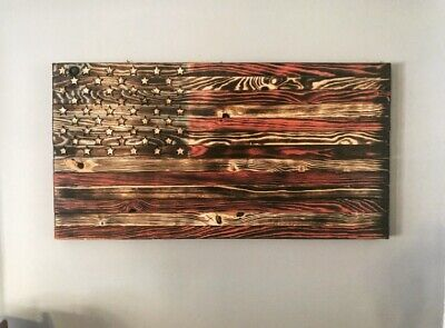 Handmade Rustic Wooden Pallet American Flag SMALL Veteran Men's Christmas Gift