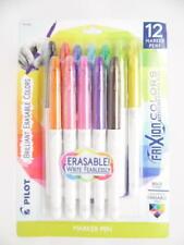 Pilot Frixion Colors Erasable Marker Pens Bold Point Assorted Ink Colors 12ct