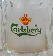 VINTAGE CARLSBERG BEER GLASS MUG with Handle Chinese Rabbit 1999  Malaysia Rare