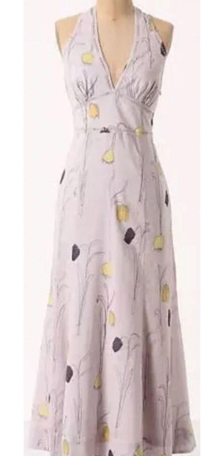 Beautiful Summer Halter Cotton Dress by HD in Paris by Anthropologie Sz 4