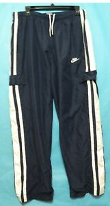 NIKE-MENS-ATHLETIC-RUNNING-PANTS-Mesh-Lined-Blue-Size-Large