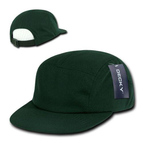 GREEN Air Mesh 5 PANEL Camper STRAPBACK HAT Cool Dri Fit Plain Blank Camp Cap
