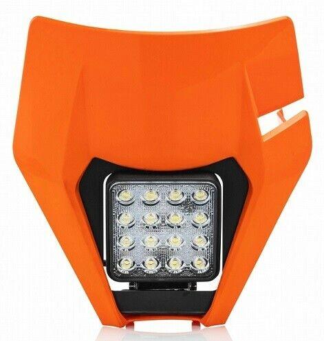 Acerbis headlight and mask Ktm EXC 250 300 2017 Orange