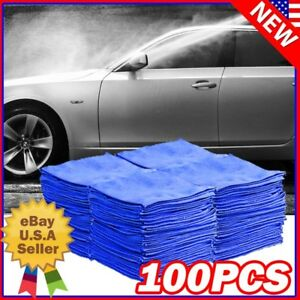 100 Pack Microfiber Cleaning Cloth No-Scratch Rag Car Polishing Detailing Towels