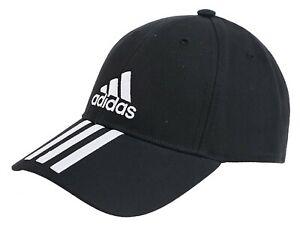 95d059c9ec0 Adidas Men 6P 3S Cotton Caps Running Hat Black Casual Sports GYM Hat ...
