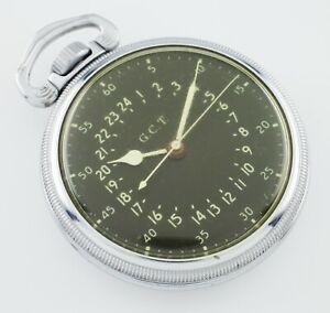 Hamilton-Base-Metal-GCT-WWii-4992B-Pocket-Watch