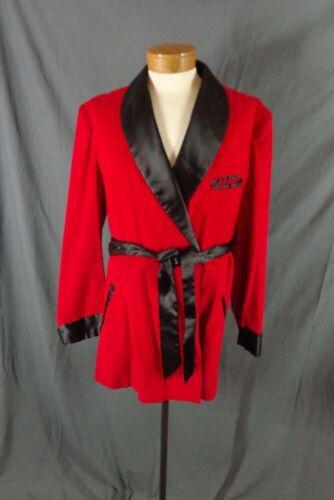 Vintage 50's Red Corduroy Smoking Jacket Robe-Hugh