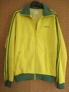 Veste Adidas Originals Jaune vert Brésil Jacket Homme style vintage - M