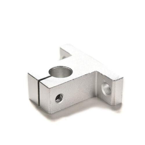 2PCS SK10 10mm Bearing CNC Aluminum Linear Rail Shaft Guide Support JKCA