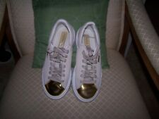 Puma Suede Platform Gold Toe Pack Beige Rihanna Womens Shoes