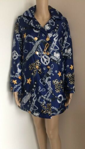 Love 14 Print Jacket Moschino Quilted Uk 12 Bnwt Size Chain rZrPqEwv