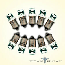 (10 Pack) - 6.3 Volt LED Bulb Concave 44/47 Base (BA9S) Pinball - WARM WHITE