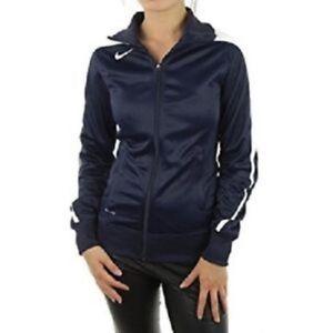 Dettagli su Nike Donna Mystifi Tuta Warm Up Giacca Zip NavyBianco 100% Poliestere Nuovo