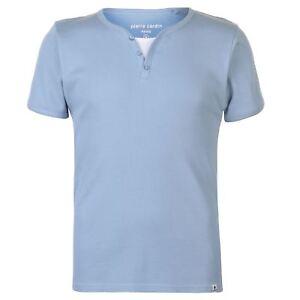 HonnêTe T-shirt Col Boutonné Homme Pierre Cardin (du S Au L) Neuf