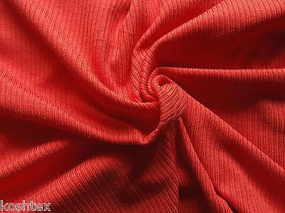 Purple Supima Cotton Rayon Rib Fabric 2x2 Knit Flat Back by the Yard