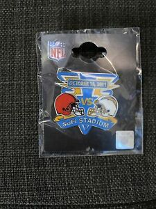 2021 NFL - LA Chargers vs Cleveland Browns Game Day Pin.