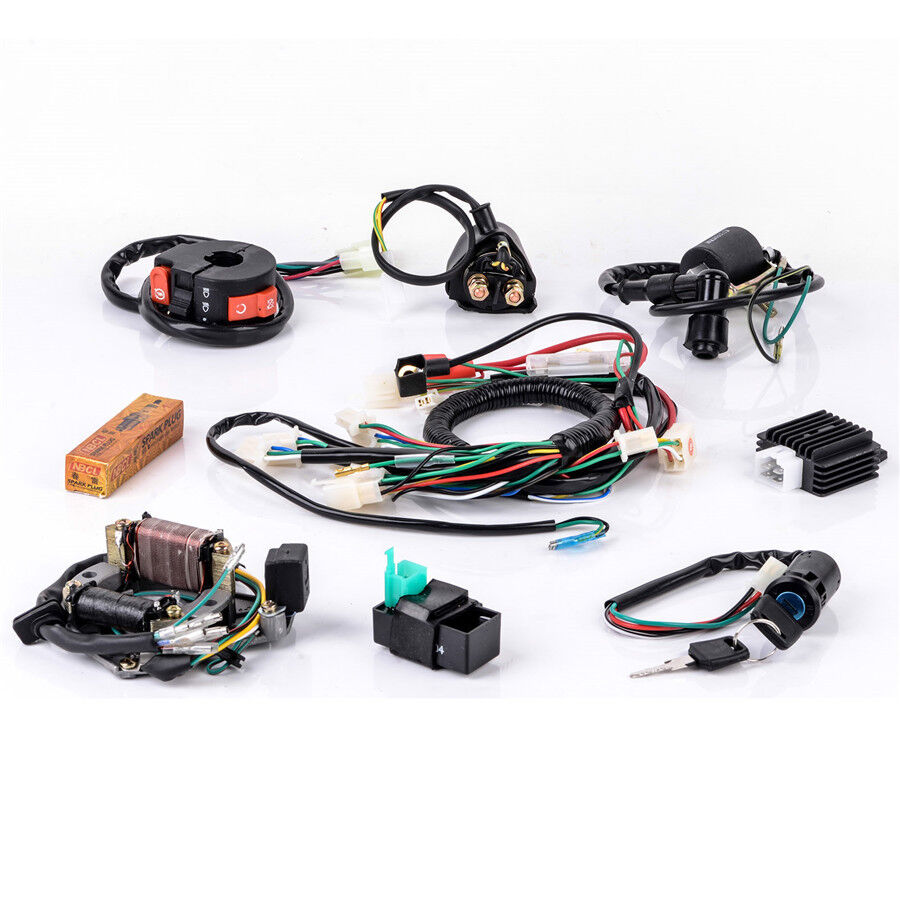 50cc-125cc CDI Wire Harness Stator Assembly Wiring for Chinese ATV Electric  Quad for sale online   eBay [ 900 x 900 Pixel ]