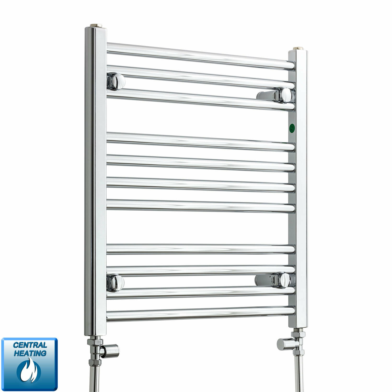 600 mm haut 550 mm Large Plat Chrome Sèche-Serviettes Radiateur Salle de bains Warmer