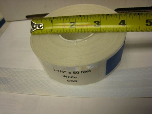 """2-3M BRAND WHITE  Reflective EGP  Conspicuity  Tape 1-1//4/"""" x 50 feet 2 Roll Lot"""